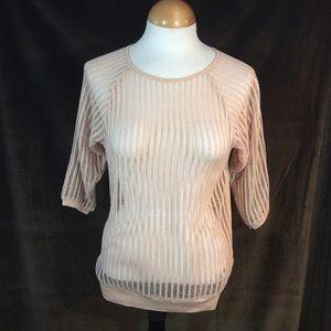 Hi-Line peach knit top NWT